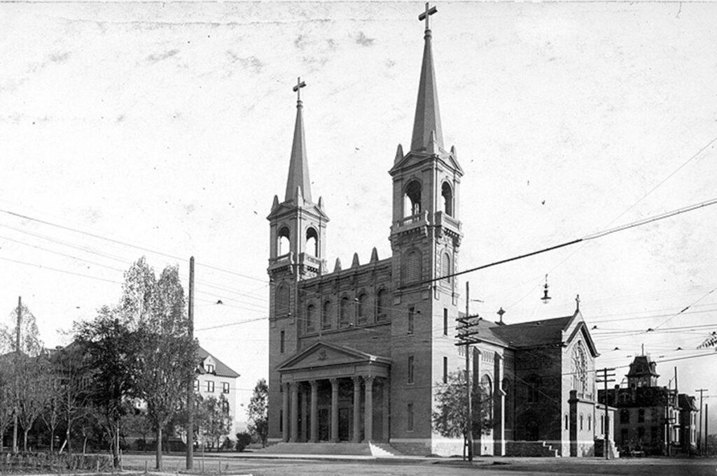 vintage photo of St. Aloysius church.